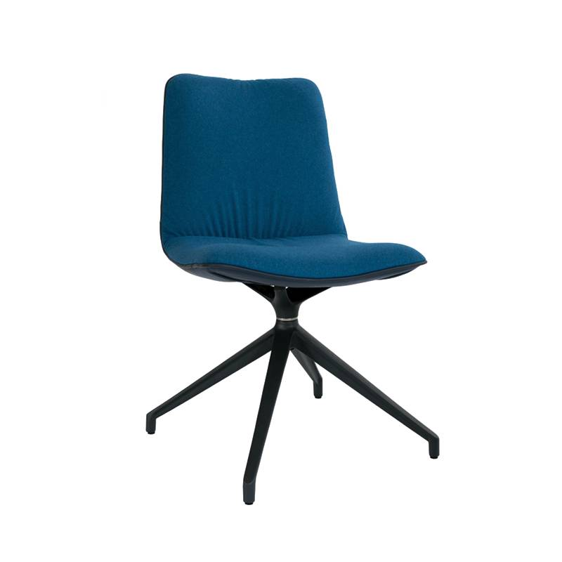 Krzesło Marlo noga obrotowa aluminium ciemny grafit