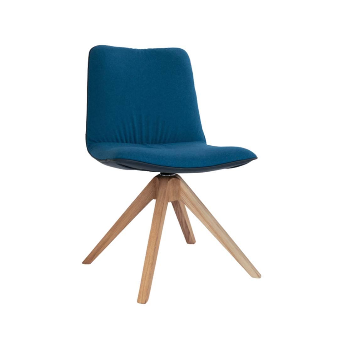 Krzesło Marlo noga dębowa obrotowa
